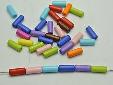 200 Mixed Bright Color Acrylic Tube Spacer Beads 13X5mm