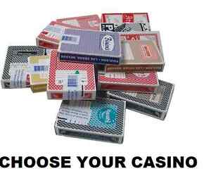 SINGLE DECK LAS VEGAS CASINO PLAYING CARDS - 40+ TO CHOOSE  ALL POPULAR CASINOS