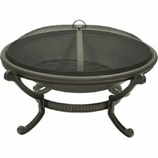 Bronze Cast Iron Large Round Fire Pit - 23 inch