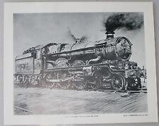 Swansea Castle GWR Castle Class No.7 A.L.Hammonds original art print steam GRA