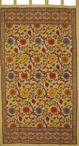 "Sunflower Print Tab Top Curtain Drape Panel Cotton 44"" x 88"" Yellow"