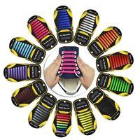 Élastique silicone sans cravate Paresseux Lacets de Chaussures Baskets Adultes