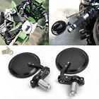 """Round Mirrors 3"""" Hand Grip Bar End 7/8"""" 22mm For Honda Yamaha Suzuki Kawasaki"""
