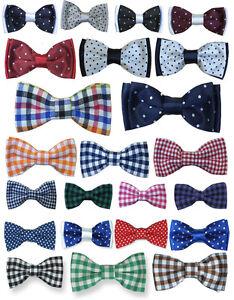 Boys Quality Bow Ties Boys Check Bow Tie Kids Polka Dot Bow Tie Children Bow