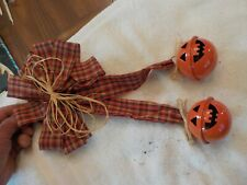 Fall Gingham Bow With Metal Pumpkin Bells Fall Decor Halloween