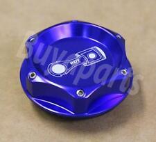 BLUE ALUMINUM TURBO ENGINE BILLET OIL CAP FUEL FILLER TANK COVER FIT HONDA EG EK