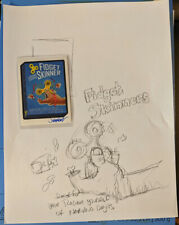 Topps Network Spews Wacky Packages #65 Fidget Skinner Signed + Original Sketch