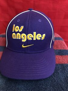 PERFECT LA LOS ANGELES LAKERS Nike Pro Swoosh Flex Fitted NBA Hat Cap Large