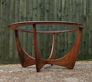 G-Plan Astro Round Coffee Table Vintage Mid Century Glass Teak DELIVERY🚚