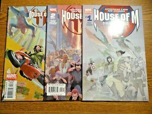 House of M #1,2,3 Run X-men Avengers Lot Magneto Scarlet Witch Wanda Set Marvel