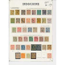 Indochine cote 635 euros* et obl ref S48