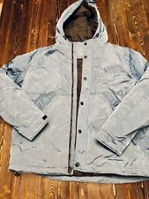 American Eagle Men's Performance Outerwear Hooded Jacket, Size XL, Shiny Blue