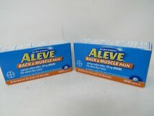 LOT OF 2 ALEVE BACK & MUSCLE PAIN 200 TABLETS TOTAL