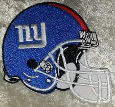 "Giants Football Helmet 3.5"" Iron On Embroidered Patch ~USA Seller~FREE Ship!"