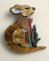 Unique Large Kangaroo Pin Brooch In acrylic