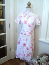 . yarra trail white linen dress floral pink  worn once