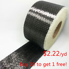 """Toray T700 Real Carbon Fiber 12k Uni directional Cloth Fabric Tap 4"""" wide 200gsm"""