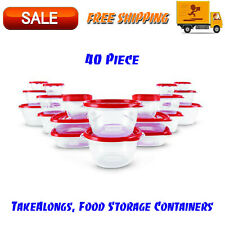 TakeAlongs, Food Storage Containers, Red, 40 Piece Set, Kitchen Organization