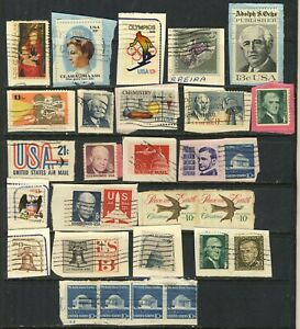 UNITED STATES ABOUT 50 DIFFERENT USED STAMPS  F-VF INCLUDING #1520 LINE STRIP