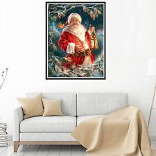 Xmas 5D DIY Diamond Painting Santa Claus Embroidery Cross Stitch Home Decor
