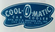 Vintage Bullet Swamp Cooler Cool-O-Matic High Quality Durable Waterproof Decal