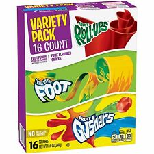 Betty Crocker Party Pack Variety Pack Fruit Roll-Ups Gushers Pack of 2 Per Order