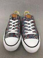Converse 155236F Mens CTAS Ox Low Top Canvas Sneaker Denim Roses Multi