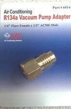 "R12 to R134A ADAPTER, 1/4"" FEMALE FLARE WITH O-RING X 1/2"" ACME MALE, FJC# 6014"