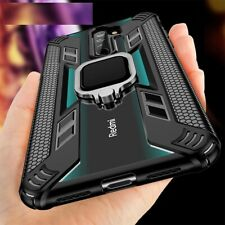 Armor Metal Magnetic Cover Car Ring Holder Case For Xiaomi Redmi Note 8 Pro 7 MI