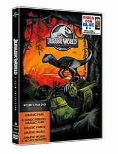 Jurassic Park + World - Cofanetto con 5 Film in DVD Nuovi Lingua Italiana
