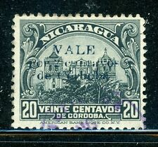 NICARAGUA Used Selections: MAXWELL #479 2c/20c Bluefields Rama Provisional CV$60