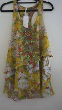 SPICYSUGAR  SIZE 8 YELLOW SLEEVELESS TOP FLORAL BNWT