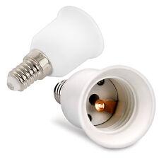 4x LAMPEN SOCKEL ADAPTER E14 AUF E27 FASSUNG STECKER GLÜHBIRNE KONVERTER LAMPE