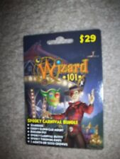 new Wizard 101 SPOOKY CARNIVAL BUNDLE Game Card Crowns Clown Car Mount New