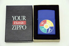Zippo Lighter Royal Blue, 1999, Cross Country, Ski, Boat, Hike.. NIB Never Used