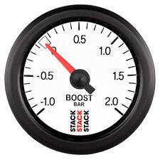 Manómetro de Pila mecánico Turbo Boost Blanco Bar