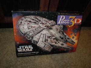 Puzz 3D Vintage 1995 Star Wars Millennium Falcon 3-D Puzzle Milton Bradley