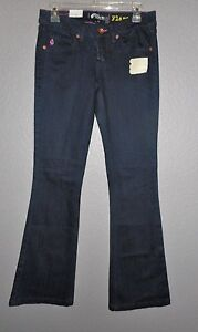 Volcom Dark Blue Stretch Flare Jeans, Junior Women's Size 5  NWT!