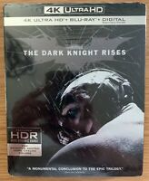 The Dark Knight Rises 4K UHD + Bluray + Digital With Slipcover Brand New SEALED