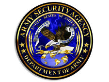 4x4 inch Round ASA Army Security Agency Seal Sticker - us decal logo military