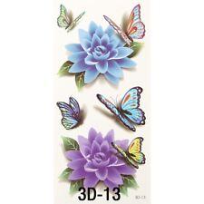 Tatuaggio tattoo temporaneo lavabile Primavera body art rimovibile rose farfalle