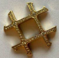 CARTIER PASHA Gitter / grid - KONVEX - 18k / 750 GOLD - BRILLANTBESATZ - 23,5mm