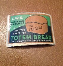 old match box top - totem bread