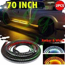 "2X 70"" Car Pickup Running Board LED Light Turn Signal DRL Side Step Strip Bar"