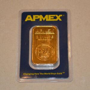 APMEX 1oz Gold Bullion Bar in Assay Card 9999