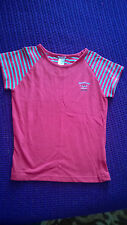 Reebok ladies red polycotton t shirt size 10 sports casual VGC