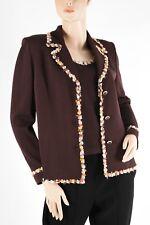 ST. JOHN – Gorgeous Brown Santana Knit Jacket Blazer Tank Twinset - Size 8