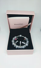 PANDORA Moments Pavé Silver Bracelet 18cm including PANDORA charms
