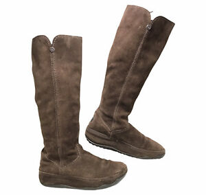 FITFLOP Tall Suede Brown Sz 8 Women Winter SuperBoot Snow Boots