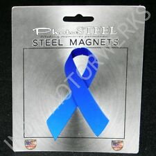 """Blue Ribbon Colon Cancer Awareness Metal With Magnets 4.5"""" By 2.75"""""""
